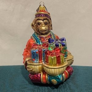 Jay Strongwater Monkey Ornament